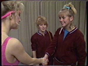 Jenny the cheerleader teacher, Charlene Mitchell, Jane Harris in Neighbours Episode 0348