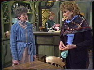 Nell Mangel, Madge Bishop in Neighbours Episode 0348
