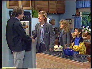 Brian Hanson, Scott Robinson, Charlene Mitchell, Lucy Robinson in Neighbours Episode 0352
