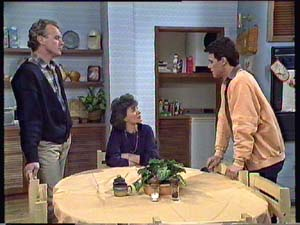Jim Robinson, Paul Robinson, Ruth Wilson in Neighbours Episode 0353