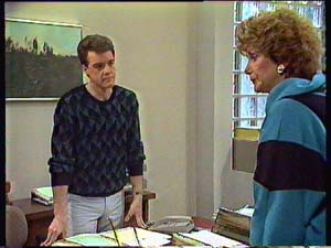 Paul Robinson, Madge Mitchell in Neighbours Episode 0356