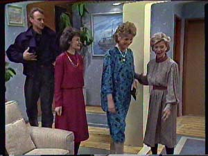 Jim Robinson, Ruth Wilson, Grace Barnet, Helen Daniels in Neighbours Episode 0359