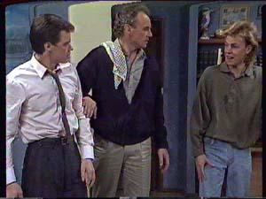 Paul Robinson, Jim Robinson, Scott Robinson in Neighbours Episode 0361