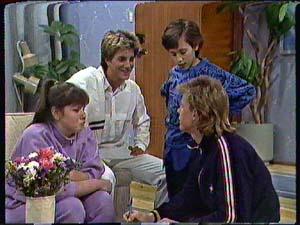 Nikki Dennison, David Turner, Lucy Robinson, Scott Robinson in Neighbours Episode 0361