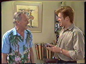 Ted Gibbons, Clive Gibbons in Neighbours Episode 0364