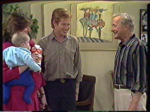 Sam Cole, Susan Cole, Clive Gibbons, Ted Gibbons in Neighbours Episode 0364