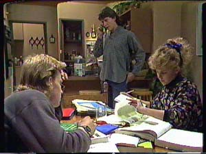 Scott Robinson, Warren Murphy, Charlene Mitchell in Neighbours Episode 0365