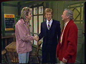 Shane Ramsay, Clive Gibbons, Ted Gibbons in Neighbours Episode 0365
