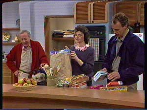 Ted Gibbons, Ruth Wilson, Jim Robinson in Neighbours Episode 0366