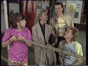 Lucy Robinson, Helen Daniels, Paul Robinson, Scott Robinson in Neighbours Episode 0400