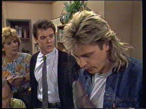 Madge Bishop, Paul Robinson, Shane Ramsay in Neighbours Episode 0404