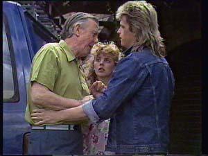 Dan Ramsay, Charlene Mitchell, Shane Ramsay in Neighbours Episode 0404