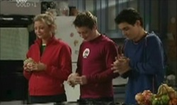 Felicity Scully, Tad Reeves, Paul McClain in Neighbours Episode 3912