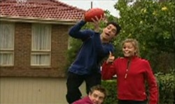 Paul McClain, Tad Reeves, Felicity Scully in Neighbours Episode 3912