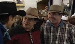 Drew Kirk, Ron Kirk, Karl Kennedy in Neighbours Episode 3919