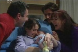Karl Kennedy, Libby Kennedy, Susan Kennedy, Drew Kirk, Ben Kirk in Neighbours Episode 3922