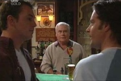 Stuart Parker, Lou Carpenter, Drew Kirk in Neighbours Episode 3922