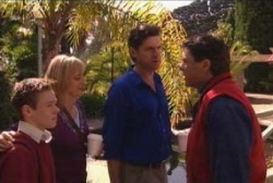 Joe Scully, Leo Hancock, Evan Hancock, Maggie Hancock in Neighbours Episode 3935