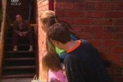 Gregori, Michelle Scully, Emily Hancock, Leo Hancock in Neighbours Episode 3936