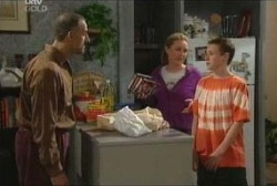 Gregori, Michelle Scully, Leo Hancock in Neighbours Episode 3937