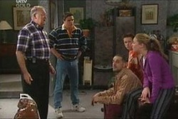 Harold Bishop, Joe Scully, Gregori, Leo Hancock, Michelle Scully in Neighbours Episode 3937