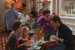 Leo Hancock, Emily Hancock, Matt Hancock, Evan Hancock in Neighbours Episode 3945