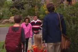 Evan Hancock, Emily Hancock, Leo Hancock, Lyn Scully, Joe Scully in Neighbours Episode 3945