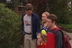 Evan Hancock, Michelle Scully, Leo Hancock, Emily Hancock in Neighbours Episode 3945
