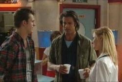 Stuart Parker, Drew Kirk, Dee Bliss in Neighbours Episode 3954
