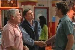 Lou Carpenter, Joe Scully, Evan Hancock in Neighbours Episode 3954