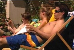 Tad Reeves, Felicity Scully, Matt Hancock in Neighbours Episode 3956