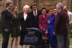 Karl Kennedy, Libby Kennedy, Rosie Hoyland, Drew Kirk, Lyn Scully, Susan Kennedy, Lou Carpenter in Neighbours Episode 3958