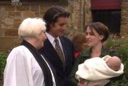 Rosie Hoyland, Drew Kirk, Libby Kennedy, Ben Kirk in Neighbours Episode 3958