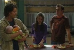 Drew Kirk, Ben Kirk, Libby Kennedy, Stuart Parker in Neighbours Episode 3961