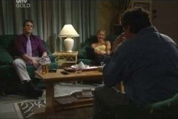Marc Lambert, Steph Scully, Joe Scully in Neighbours Episode 3961