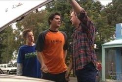 Leo Hancock, Matt Hancock, Stuart Parker in Neighbours Episode 3965