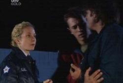 Terri Hall, Stuart Parker, Drew Kirk in Neighbours Episode 3970