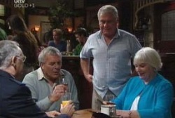 Harold Bishop, Colin Barclay, Lou Carpenter, Rosie Hoyland in Neighbours Episode 3973