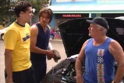 Lou Carpenter, Drew Kirk, Matt Hancock in Neighbours Episode 3973