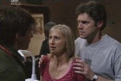 Darcy Tyler, Maggie Hancock, Evan Hancock in Neighbours Episode 3974