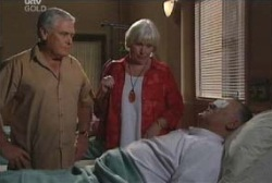 Lou Carpenter, Rosie Hoyland, Harold Bishop in Neighbours Episode 3974