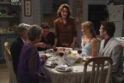 John Lambert, Chloe Lambert, Joe Scully, Lyn Scully, Steph Scully, Marc Lambert in Neighbours Episode 3975