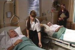 Lou Carpenter, Harold Bishop, Darcy Tyler in Neighbours Episode 3976