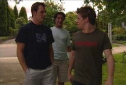 Stuart Parker, Drew Kirk, Tad Reeves in Neighbours Episode 3979