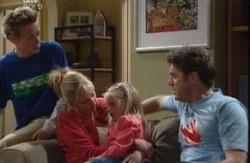 Leo Hancock, Maggie Hancock, Emily Hancock, Evan Hancock in Neighbours Episode 3982