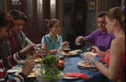 Susan Kennedy, Drew Kirk, Libby Kennedy, Karl Kennedy, Elly Conway in Neighbours Episode 3983