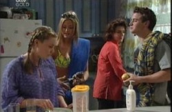 Michelle Scully, Felicity Scully, Lyn Scully, Tad Reeves in Neighbours Episode 3984