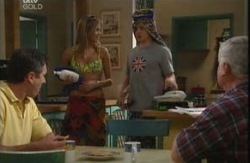 Karl Kennedy, Felicity Scully, Tad Reeves, Lou Carpenter in Neighbours Episode 3984
