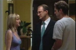 Maggie Hancock, Neil Walden, Evan Hancock in Neighbours Episode 3986