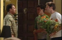 Roger Bushby, Matt Hancock, Evan Hancock in Neighbours Episode 3986